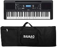 YAMAHA PSR-E373 61-Keys Portable Keyboard With Adapter With Bajaao Bag