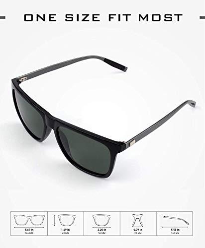 Tclothing Polarisierte Sonnenbrille Al-Mg Metallrahme Ultra leicht Damen Herren