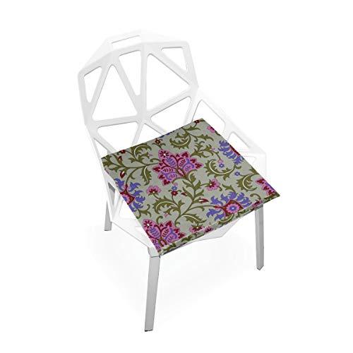 Inder Paisly Design Benutzerdefinierte Weiche Rutschfeste Quadratische Memory Foam Chair Pads Kissen Sitz Für Home Kitchen Esszimmer Büro Schreibtisch Möbel Innen 16x16 Zoll -