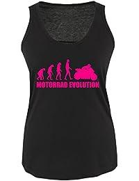 MOTORRAD EVOLUTION - Damen Frauen Girly Women Tank Top Shirt Gr. S bis XL Diverse Farben