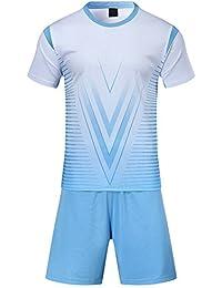 KINDOYO Traje de fútbol de los Hombres de Verano Ropa Deportiva Uniformes  Equipo de Entrenamiento de 86e28d7ddd477