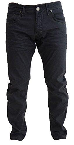 Uomo Crosshatch Nuovo Menzo Jeans Vestibilità Slim Taglio Regolare Stretch Denim Pantaloni - cotone, Medio Nero Blu, 1% spandex 41% poliestere 58% cotone, Uomo, Size - 30