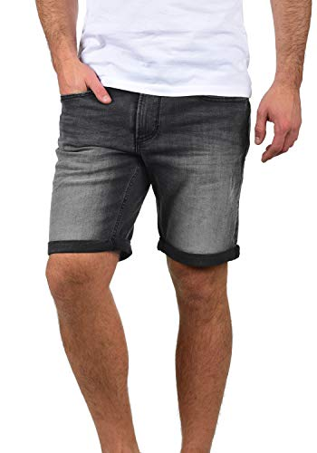 Blend Grilitsch Herren Jeans Shorts Kurze Denim Hose Mit Destroyed-Optik Aus Stretch-Material Slim Fit, Größe:XXL, Farbe:Denim Dark Grey (76209)