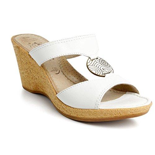 Batz Roxana Sandales Chaussure en Cuir de Qualité Supérieure Femme Eté