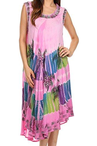 Sakkas 10SE Tasanee Kaftan-Behälter-Kleid / Cover Up - Pink- One Size