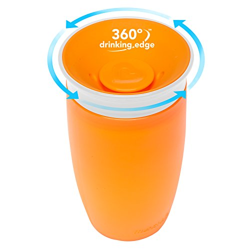Munchkin Miracle 360 Sippy Cup, Orange/Pink, 10 Ounce, 2 Count - 2