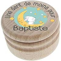Boite à Dents de Lait en bois - Personnalisée avec le prénom de l'enfant + Texte personnalisable – Dents de la petite…