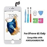 Rarlon Display Compatible Für iPhone 6SWeiß LCD Bildschirm Ersatz Für Touchscreen Glas Reparaturset Ersatz Einschließlich Kostenlose Werkzeug(6S-Weiß)