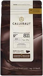 CALLEBOT Receipe nr. 811 - Enkeldeurs Callets, zachtbitterchocolade, 54,5% cacao, 1 kg - 1 stuk