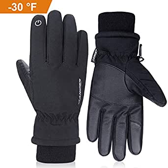 Anqier Winter Gloves,-30℉(-34℃) Cold Proof Thermal 3M