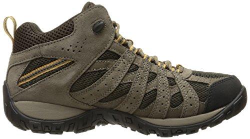 Columbia Mens Redmond Mid Waterproof Wide Hiking Boot Cordovan, Dark Banana