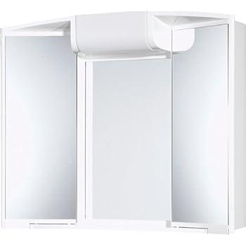 Jokey armoire glace angy largeur 59 cm blanc avec - Glace de salle de bain avec eclairage ...