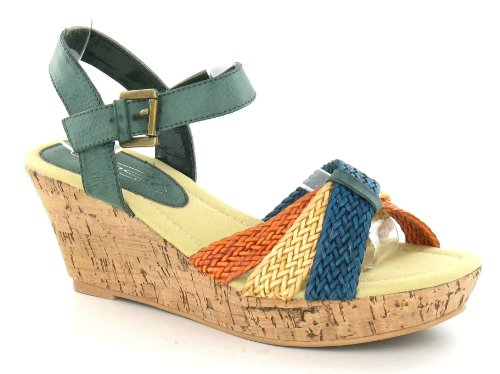 Spot On , Sandales pour femme Multicolore - bigarré