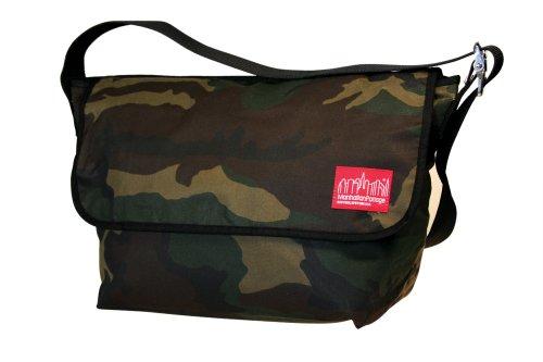 Manhattan Portage gewachst groß Vintage Messenger Bag, Herren, camouflage
