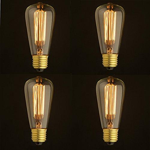 Glas-postfach Antike (costway Birnen Set ST584x 60W E27Filament Vintage Antik Stil Edison Eichhörnchen Käfig Licht)