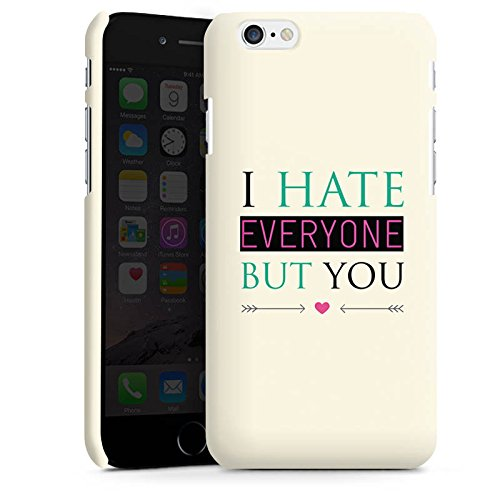 Apple iPhone X Silikon Hülle Case Schutzhülle Spruch Love Hate Herz Premium Case matt