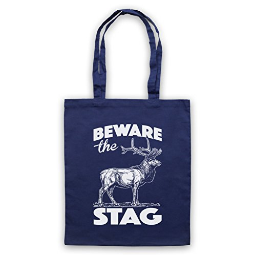 Beware The Stag Stag Do Slogan Umhangetaschen Ultramarinblau