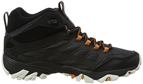 Merrell Moab Fst Mid GTX, Chaussures de Randonnée Hautes Homme Noir (Black/orange)