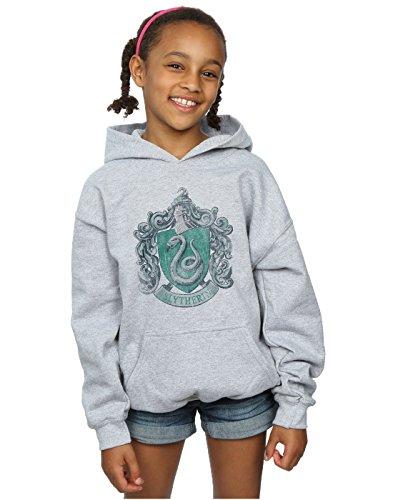 sudadera para niñas Slytherin Distressed Crest Capucha 12-13 years Gris Sport