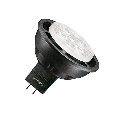 Lámpara LED GU5.3 MR16 Master 12V SpotLV VLE 6.3W 36º Black Blanco Neutro 4000K efectoLED