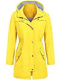 Amazon da da Abbigliamento impermeabile donna it giallo neve e wfZUqF1xw