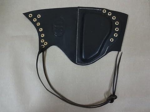 WWII US Garand Cuir Sniper Rifle Cheek Pad Noir Embedded États-Unis - Reproduction