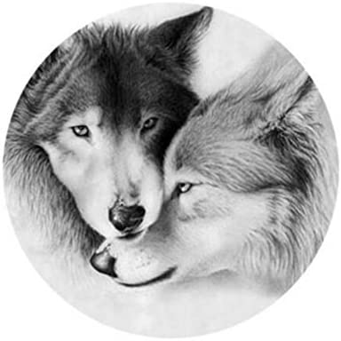 Weekendy Badges de de de Nouveaux Boutons Belle Animal Loups Alliage Rond Bouton Badge de Broche (coloré) 29b4b5