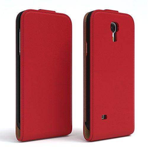 EAZY CASE Flip Case Hülle für Samsung Galaxy S4 Mini Handyhülle - Premium Schutzhülle zum Aufklappen, Klapphülle - Flip Cover in Rot Rot
