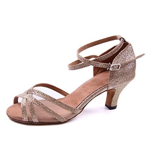 Tanzen Schuhe Damen Niedriger Absatz Ballsaal Funkeln Pumps ()