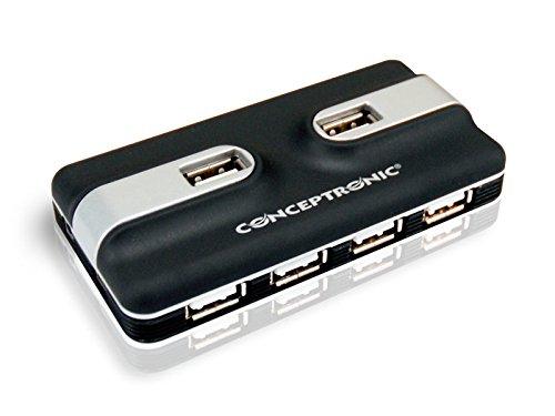 Conceptronic C05-132 Hub USB 2.0, 7 puertos, con fuente de alimentación