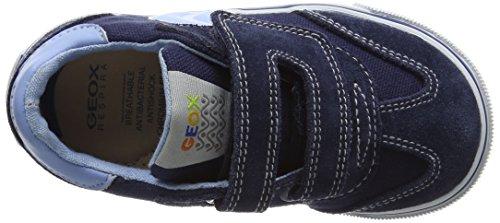 Geox B Kiwi Boy E, premiers pas chaussures bébé garçon Bleu (Navy/Lt Bluec0693)