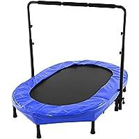 begorey Trampolin Kindertrampolin Fitness Trampolin mit Abnehmbarem Haltegriff Max. Benutzergewicht bis 100 kg