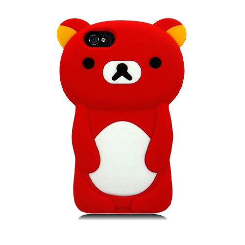 Eagle Zelle Handy Fall für Apple iPhone SE/5/5S-Retail Verpackung-Bär rot