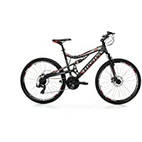 "Moma Bikes Bicicleta Montaña Mountainbike 26"" BTT SHIMANO 21 vel. Aluminio, frenos de disco y suspension, M (1,55-1,69m)"