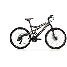 """Moma bikes, Bicicletta Mountainbike 26"""" BTT SHIMANO, alluminio, doppio disco e doppia sospensione"""