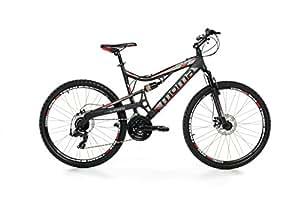 """Moma bikes, Bicicletta Montaña Mountainbike 26"""" BTT SHIMANO, alluminio, doppio disco e doppia sospensione"""