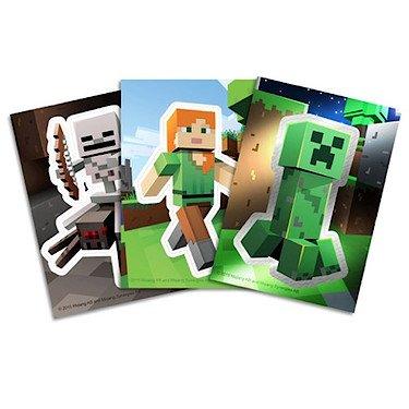 Minecraft – Sachet de 3 Cartes à Collectionner – Modèle Aléatoire