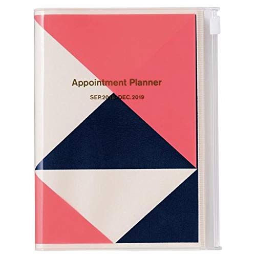 MARK'S 2019 Taschenkalender A6 vertikal, Geometric Pattern PINK.