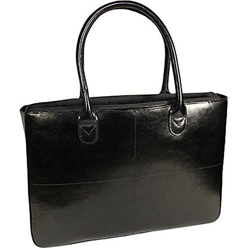 Preisvergleich Produktbild Monolith Damen Leder Laptop Tasche/2365 (430 x 305 x 80mm), schwarz