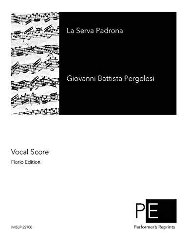 La Serva Padrona - Vocal Score