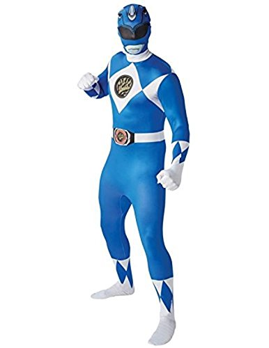 Mighty Morphin Power Rangers Blue Ranger - Adult 2nd Skin Costume Men : LARGE