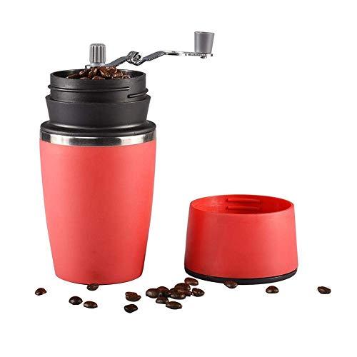 MAO Handkurbelmühle Keramik-Mahlwerk Edelstahl-Filterrahmen Und Linie All-in-One-Espressomaschine Tragbar Für Home Office Travel Outdoor Rot