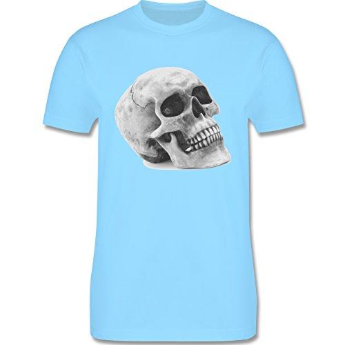 Piraten & Totenkopf - Totenkopf Skull - Herren Premium T-Shirt Hellblau