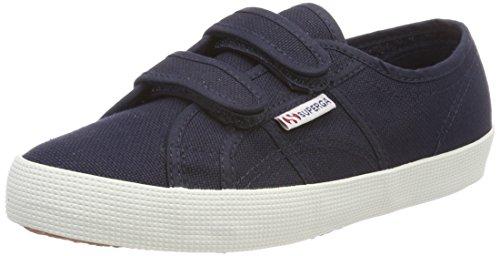 Superga 2750 cotbumpvel, sneaker unisex – bambini, blau (navy-offwhite), 32 eu