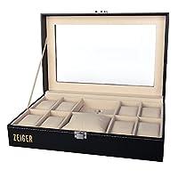 Zeiger Reloj Pantalla Caja Funda de piel sintética caja de almacenamiento para reloj de bolsillo S001