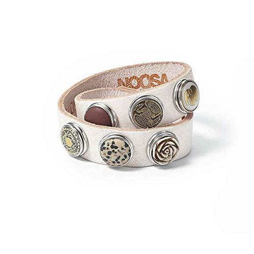 Noosa PURE Armband doppelt SKINNY weiss Größe XS - ohne Chunks - Skinny Armband