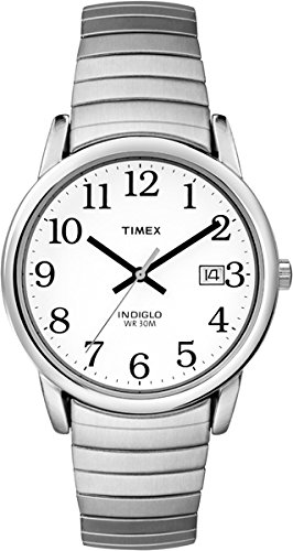 timex-mens-t2h451-quartz-easy-reader-watch-with-white-dial-analogue-display-and-silver-stainless-ste