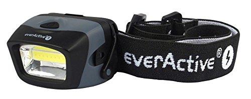 everActive COB LED Kopflampe Stirnlampe 3W, leistungsfähig, 150 Lumen - Lichtstrahl breit und gleichmäßig, Modell: HL-150