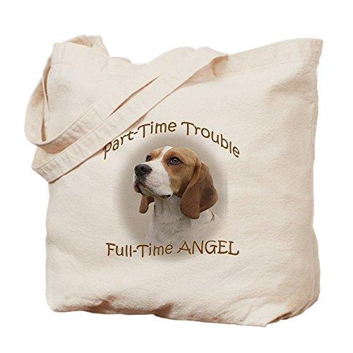 CafePress–Beagle Teilzeit-Trouble Tasche–Leinwand Natur Tasche, Reinigungstuch Einkaufstasche, canvas, khaki, M