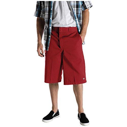 Dickies Herren Hosen / Shorts 13 Multi-Use Pocket Work rot W 48